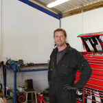 Grahame in the workshop